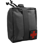 Detachable medical pouch (WARTECH) (Black)