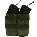 Double AK mag pouch with silent cover (Azimuth SS) (Russian pixel)