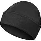 Double fleece hat with cuff (Keotica) (Black)