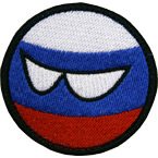 "Patch ""Countryball Russia"", diameter 5.5 cm"