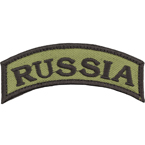"Patch ""Russia"", arc, olive, 8.2 x 3.4 cm"