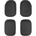 Set of top and bottom shock absorbing pads (WARTECH) (Black)