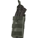 Single AK, M4/M16 series mag pouch w/ Bungee (WARTECH) (Olive)