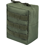 Vertical utility pouch (East-Military) (Olive)
