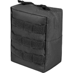 Vertical utility pouch (East-Military) (Black)