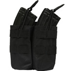 Double AK mag pouch with silent cover (Azimuth SS) (Black)