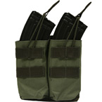 Double AK mag pouch with silent cover (Azimuth SS) (Olive)