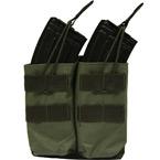 Doppeltasche für AK-Magazine mit geräuschfreiem Verschluss (Olivengrün)